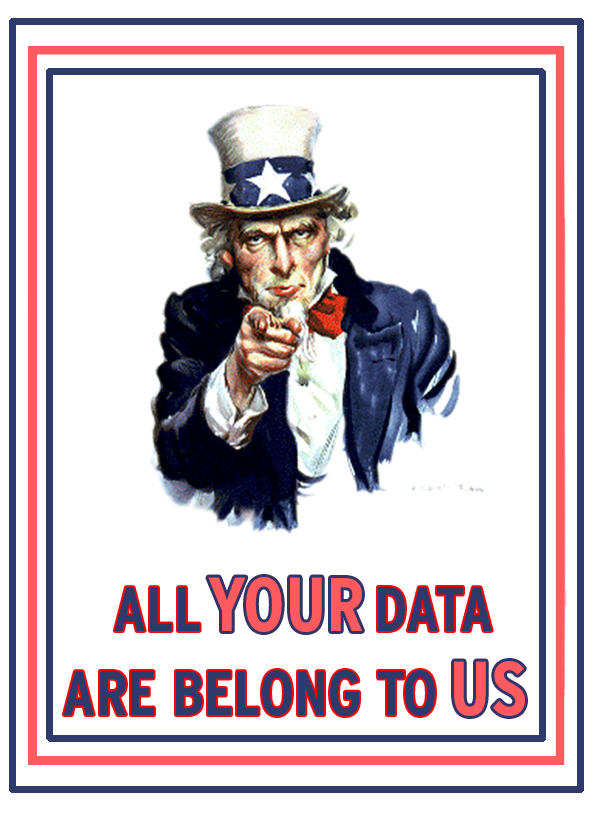 vie privée - All your data belong to us