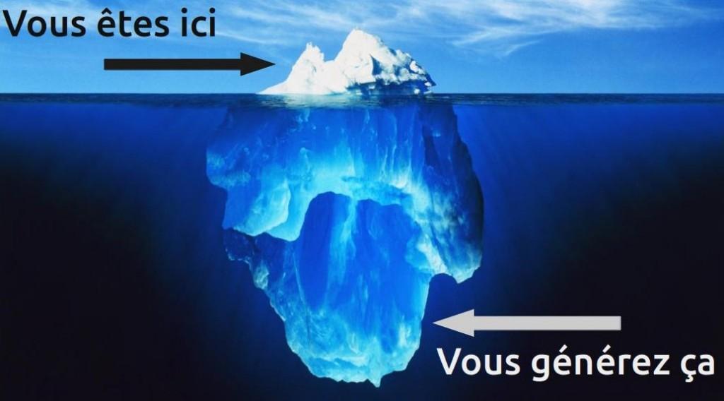 vie privée iceberg