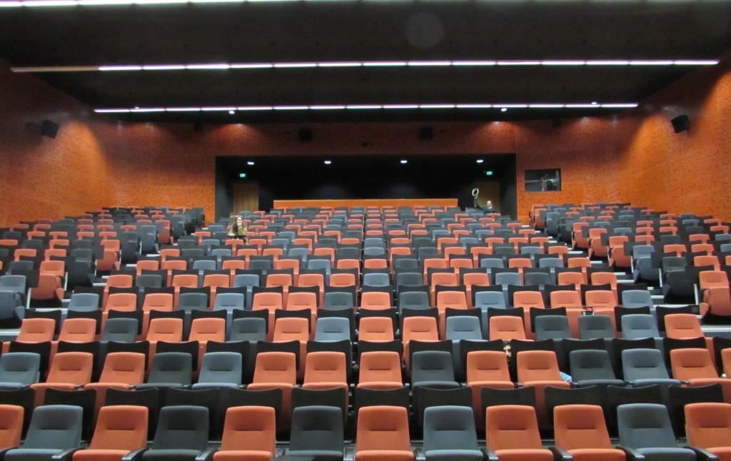 Amphi fac arts numériques - visite d'Auckland