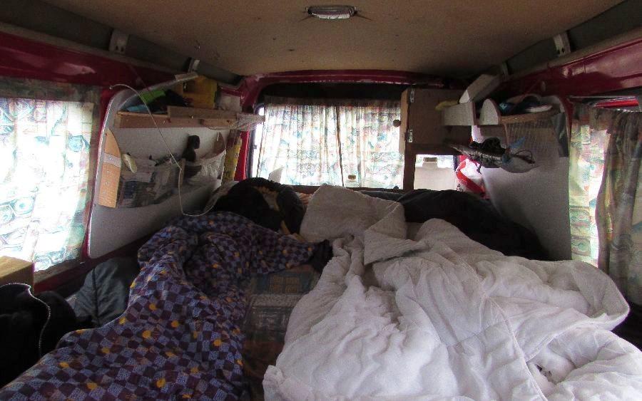 Les lits du van
