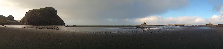 Panorama plage de Whatipu